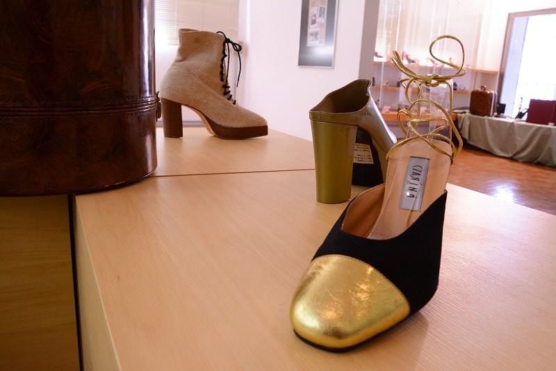 7e6103ad0 Em primeiro plano, calçado do estilista Gilberto Simon. Nadine  Funck/Universidade Feevale